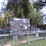 Монтаж конструции из хомутовых лесов Сад Имени Н. Э. Баумана (3)