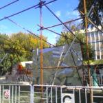 Монтаж конструции из хомутовых лесов Сад Имени Н. Э. Баумана (4)