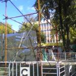 Монтаж конструции из хомутовых лесов Сад Имени Н. Э. Баумана (5)