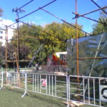 Монтаж конструции из хомутовых лесов Сад Имени Н. Э. Баумана (6)