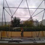 Монтаж конструции из хомутовых лесов Сад Имени Н. Э. Баумана (8)