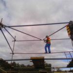 Монтаж конструции из хомутовых лесов (3)