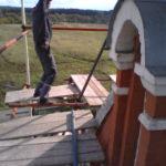 Монтаж хомутовых лесов Спасская Церковь (10)