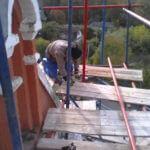 Монтаж хомутовых лесов Спасская Церковь (12)