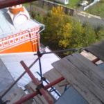 Фото монтаж хомутовых лесов Спасская Церковь