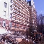 Монтаж рамных лесов ул. Дмитрия Ульянова