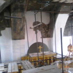 Фото монтаж хомутовых лесов Храм Покрова Пресвятой Богородицы