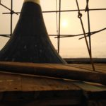 Монтаж хомутовых на куполе