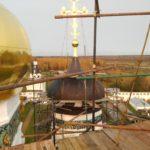 Монтаж хомутовых лесов на куполах