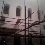 Монтаж внутри Сергиевской Церькви